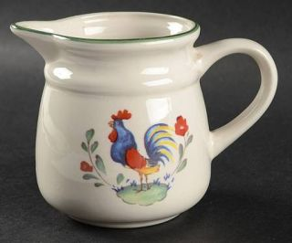 International Provence Creamer, Fine China Dinnerware   Coupe,Rust&Blue Rooster,