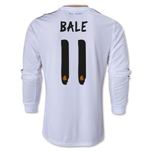 adidas Real Madrid 13/14 LS Home Soccer Jersey