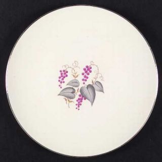 Edwin Knowles Vintage Dinner Plate, Fine China Dinnerware   Purple Grapes, Green