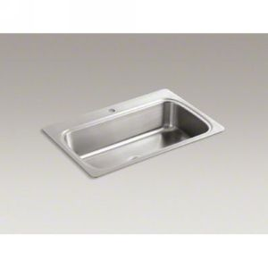 Kohler K 3373 1 NA VERSE Verse Self Rimming Stainless Steel Single Compartment S
