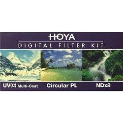 Hoya HK DG77   77mm (HMC UV / Circular Polarizer / ND8) 3 Digital Filter Set w/