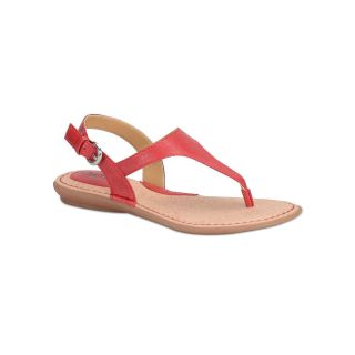 BOLO Kanika T Strap Sandals, Red, Womens
