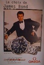 OMEGA WATCH JAMES BOND PROMOTIONAL POSTER STYLE A (FRENCH ROLLED)