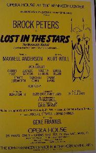Lost in the Stars (Original Broadway Theatre Window Card)
