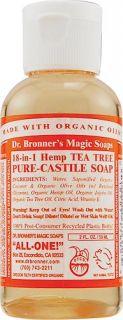 DR. BRONNERS ORG PURE CASTILE LIQ SOAP TTREE 2OZ