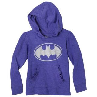 Batgirl Infant Toddler Girls Long Sleeve Hooded Tee   Purple 4T