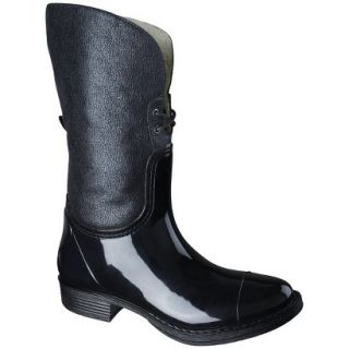 Womens Merona Zajac Rain Boot   Black 6