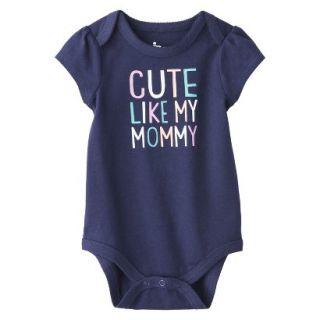 Circo Newborn Girls Cute Like Mommy Bodysuit   Blue 24 M