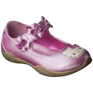 Toddler Girls Hello Kitty Mary Jane Shoe   Pink 7