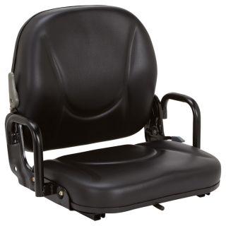 K & M Daewoo Forklift Seat   Black, Model 8054