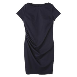 Merona Womens Twill Ruched Dress   Federal Blue   10
