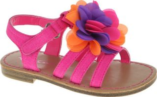 Girls Nina Delicia   Neon Pink Canvas Sandals