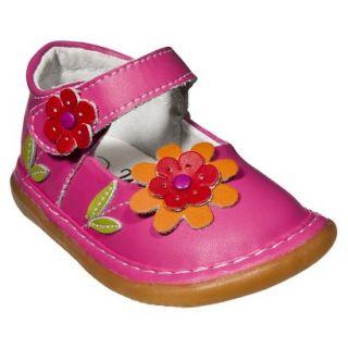 Little Girls Wee Squeak Daisy Mary Jane   Hot Pink 8