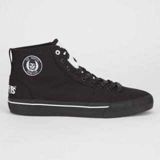 Misfits Hi Top Mens Shoes Black In Sizes 12, 9, 8.5, 9.5, 8, 10, 11,