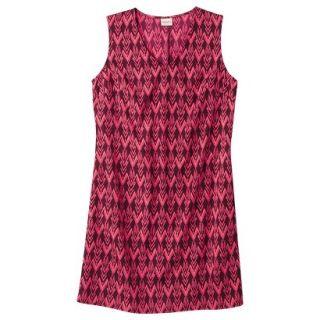 Merona Womens Woven Front Pocket Dress   Berry Cobbler   S