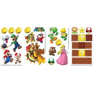 Super Mario Party Small Wall Decals