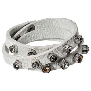 Capsule by C�ra Multi Wrap Bracelet with Rhinestone Studs   Pink
