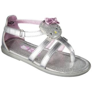 Toddler Girls Hello Kitty Sandals   Silver 1
