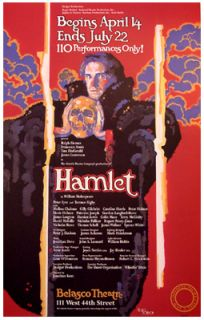 Hamlet (Original Broadway Theatre Poster   Artwork by Doug Johnson)