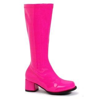 Kids Fuschia Gogo Boots