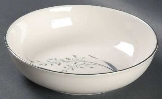 Pickard Avena Coupe Soup Bowl, Fine China Dinnerware   Gray/Platinum Wheat,Plati