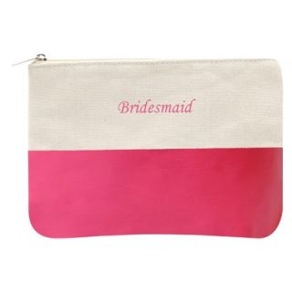 Bridesmaid Color Dipped Canvas Clutch