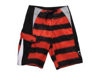 Quiksilver Kids Flash Flood Boardshort Boys Swimwear (Red)