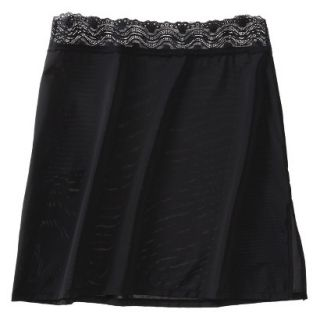 Gilligan & OMalley Womens 18 Half Slip With Lace   Black S