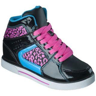 Girls Xhilaration Greta High Top Sneaker Wedge   Black 1
