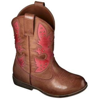 Toddler Girls Cherokee Glinda Cowboy Boots   Pink 11
