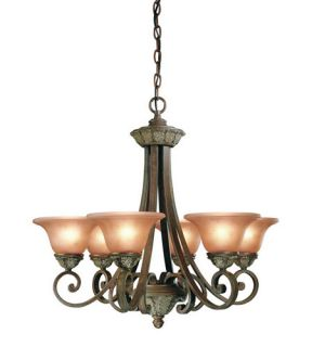 Windsor 6 Light Chandeliers in Sante Fe 820 38