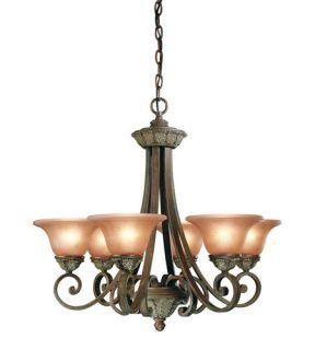 Windsor 6 Light Chandeliers in Sante Fe 820 38