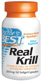 Doctors Best   Real Krill Antarctic Krill Oil Complex 350 mg.   60 Softgels