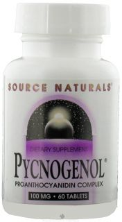 Source Naturals   Pycnogenol Proanthocyanidin Complex 100 mg.   60 Tablets