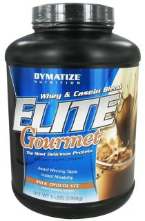 Dymatize Nutrition   Elite Gourmet Protein Whey & Casein Blend Powder Milk Chocolate   5 lbs.