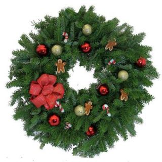 Worcester Wreath 24 in. Balsam Fir Enchanted Gingerbread Man Wreath: Sold Out for the Season   DISCONTINUED EGM24 W7