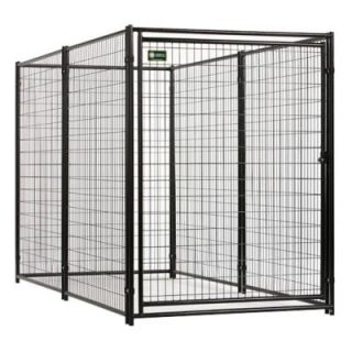 American Kennel Club 6 ft. x 5 ft. x 10 ft. Black Powder Coated Kennel CL 70510