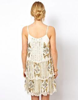Frock and Frill  Vestido recto con 3 capas y adornos en toda la prenda de Frock and Frill en
