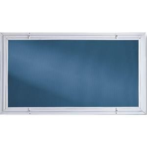 basement storm windows 32 in x 14 in white with screen c4031
