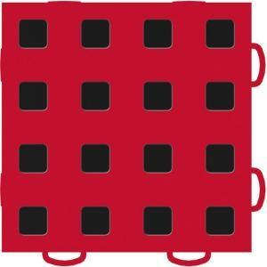 WeatherTech TechFloor 6 in. x 6 in. Red/Black Vinyl Flooring Tiles (Quantity of 10) 51T66 RD BK