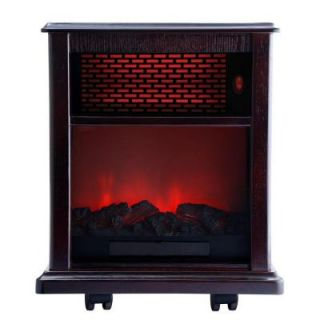 American Comfort Fireplace 1500 Watt Infrared Electric Portable Heater solid wood construction   Espresso ACW0038WE