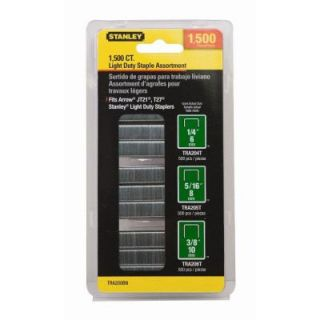 Stanley 1,500 Units 29/64 in. Wide Light Duty Staples TRA200BN