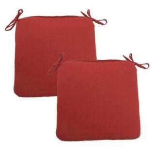 Hampton Bay Geranium Texture Outdoor Chair Cushion (2 Pack) 7348 02220600