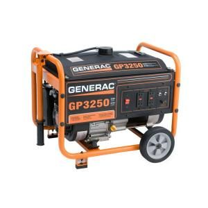 Generac GP 3,250 Watt Gasoline Powered Portable Generator with CARB Compliant 5789