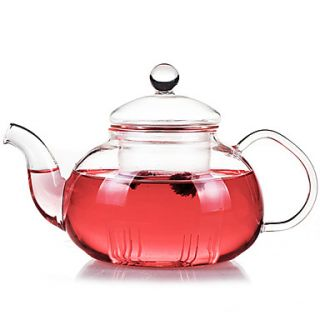 Teapot with Filter, Glass 26oz