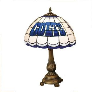 The Memory Company NFL Indianapolis Colts Stained Glass Tiffany Table Lamp DISCONTINUED NFL IND 500