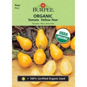 Burpee Organic Tomato Yellow Pear Seed 68524