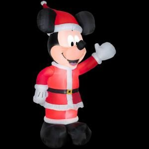 11 ft. Airblown Giant Lighted Mickey Waving in Santa Suit 86509