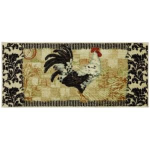 Mohawk Bergerac Rooster Neutral 20 in. x 45 in. Accent Kitchen Rug 322700