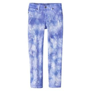 Girls Tye Dye Print Skinny Jean   Bright Blue 14